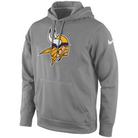 Minnesota Vikings Nike KO Logo Essential Performance Hoodie – Gray