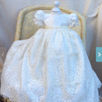 LEITE // Christening gown silk and Lace // Heirloom
