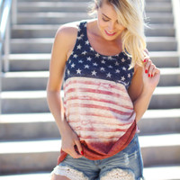 American Flag Sleeveless Tank Top