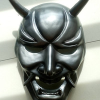 Oni mask a.k.a Hannya mask japanese devil culture mask Black Titanium color