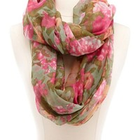 Garden Floral Infinity Scarf: Charlotte Russe