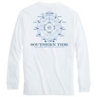 Points of Sail Long Sleeve T-Shirt in White by Southern Tide