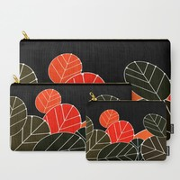 Black Fall Carry-All Pouch by Mirimo | Society6