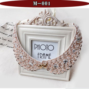 Vintage black lace beaded collar choker collar necklace fake collar women 's clothing accessories sweet false collar