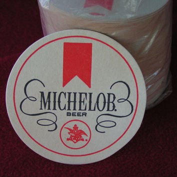 Michelob Paper Coasters, Vintage and new, but with some yellowing due to age but no damage.