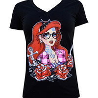 Lowbrow Art Company Ariel Tattooed Mermaid Tee