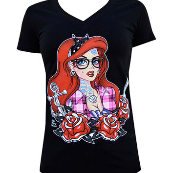 Ariel Tattooed Mermaid Tee