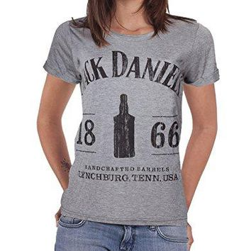 Jack Daniels Women's 1866 T-shirt Grey
