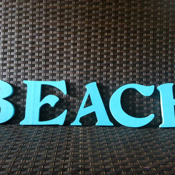 Beach Painted Letter - Letters - Beach Decor - Beach House Decor - Painted Letter - BEACH - Home Decor - Wall Decor
