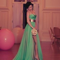 Elegant and sexy the green Floor-Length prom Dress/Evening Dress