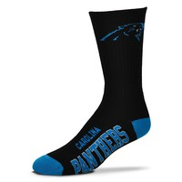 For Bare Feet Carolina Panthers Team Color Crew Socks - Adult, Size: L (Pth Team)