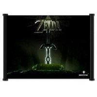 "1 X Legend of Zelda: Twilight Princess Game Fabric Wall Scroll Poster (24""x15"") Inches"