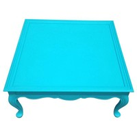 Turquoise Shabby Chic Coffee Table