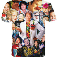 Robin Williams Collage All-Over Print Sublimated Multi-Color T-Shirt