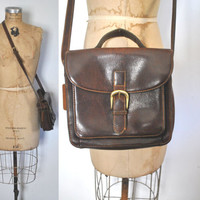 Saddle Leather Satchel / brown Bag / wallet purse