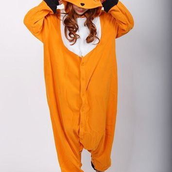 Kigurumi Anime Cosplay Costume Unisex Cartoon Fox Onesuit Adult Animal Onesuits Pyjamas Sleepwears Romper Jumpsuit