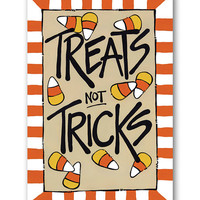 'Treats Not Tricks' Canvas Flag