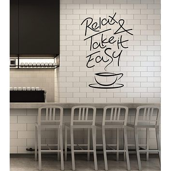 Vinyl Wall Decal Coffee Shop Quote Cup House Decoration Idea Stickers Mural (ig5532)
