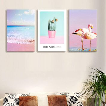 Tropical Print Wall Art 3pcs
