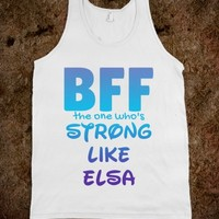 BFF THE ONE WHO'S STRONG TANK TOP - CARTOON CHARACTER SERIES (IDB110633)