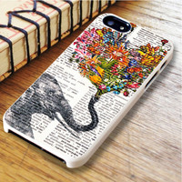 Dictionary Elephant Flower Elephant Dictionary Flower | For iPhone 6 Plus Cases | Free Shipping | AH0537