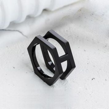 Simple Fashion Personality Geometric Round Unisex Ring Couple Little Finger Ring