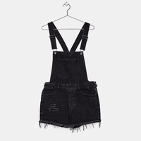 Denim shortalls - Dresses - Bershka United States