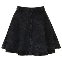 MOTO Black Acid Denim Skirt - View All - Skirts - Clothing - Topshop USA