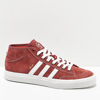 adidas Matchcourt Mid MJ Brick Red & White Shoes | Zumiez