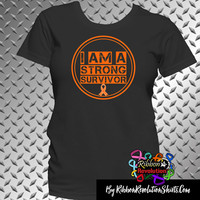 I am a Strong Survivor Shirts for Leukemia, Kidney Cancer, Multiple Sclerosis, COPD, RSD and More