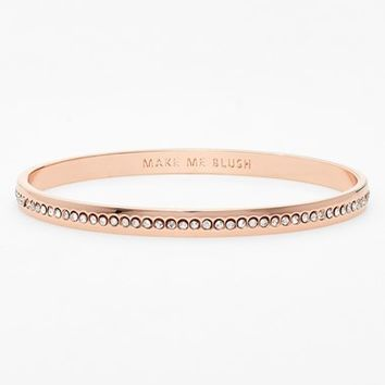 Women's kate spade new york 'idiom - make me blush' pave bangle