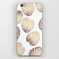 Pastel monstera iPhone Skin by Printapix