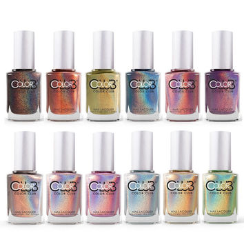 Color Club Halo Hues Holographic Full Collection Set of 12 Colors