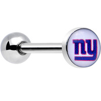 Officially Licensed NFL New York Giants Barbell Tongue Ring