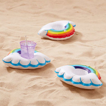 Rainbow Drink Holder Pool Float Set - Urban Outfitters