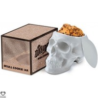 Skull Cookie Jar [White]