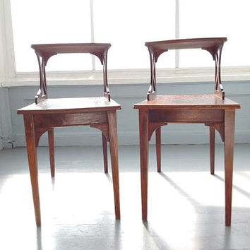 Two Beautiful Vintage Mid Century Modern, Danish Modern, Step up End Tables