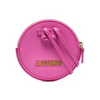 Pink Leather Logo Purse by Jacquemus