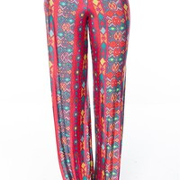 Fashion Fusion Patterned Palazzo Pants - Pink from Uptown Apparel at Lucky 21