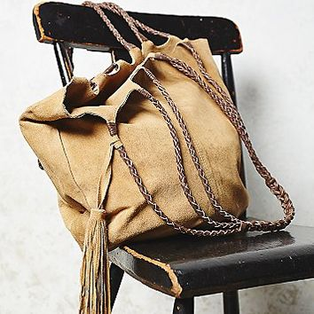 Free People Womens Decades Suede Tote