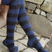 Sock Dreams - Extraordinary Striped Thigh Highs - Unique Colorful Socks