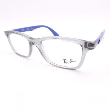 Ray Ban Kids 1562 3745 Transparent Grey Blue Eyeglass Frame New Authentic