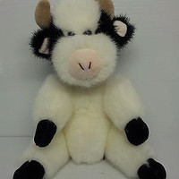 "TY MADISON 1993 COW 6035 PLUSH WITH TAG 8""COLLECTIBLE age 2 girls beanie babie"