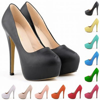 Ultra fashionable nightclubs wind Matt bride shoes super high heels shoes shoes Luolandifen waterproof 817-1MA