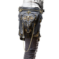 Gothic Steampunk Skull Leg and thigh holster