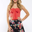 Night Bloomer Skirt - Coral