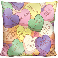 Comic-Con-versation Hearts Pillow