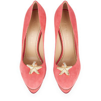 Charlotte Olympia Dolly Suede Pump