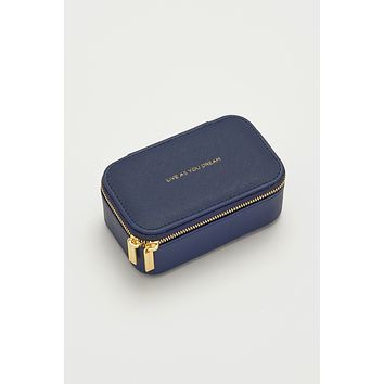 Mini Jewelry Box - Live As You Dream  - Navy