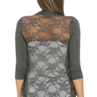 Lace Back Cardigan | Shop Tops at Wet Seal